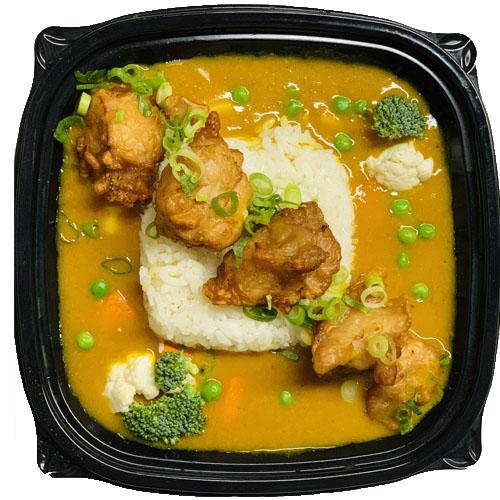CHICKEN KARAAGE CURRY(White rice, Japanese yellow Curry,Karaage Japanese Style Fried Chicken, Curry