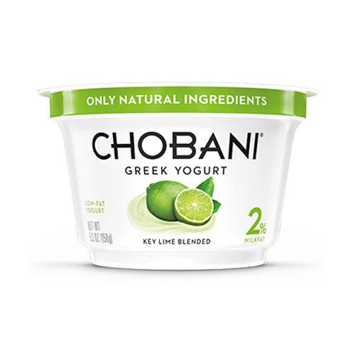 CHOBANI GREEK YOGURT LOW FAT 2% KEY LIME 5.3oz
