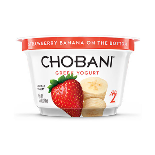 CHOBANI GREEK YOGURT LOW FAT 2% STRAWBERRY BANANA  6oz
