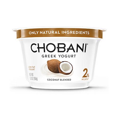 CHOBANI GREEK YOGURT LOW FAT 2% COCONUT 6oz