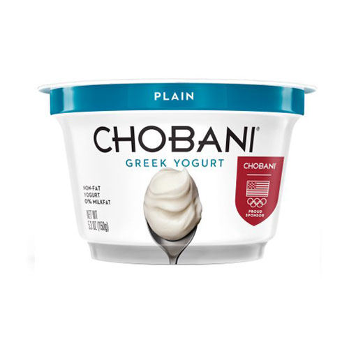 CHOBANI GREEK YOGURT NON FAT 0% PLAIN 6oz