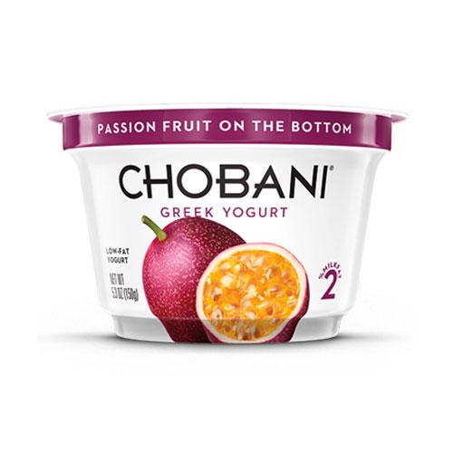 CHOBANI GREEK YOGURT LOW FAT 2% PASSION FRUIT 5.3oz