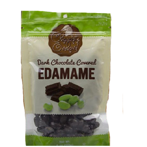 CHOCOLATE ORCHARD DARK CHOCOLATE COVERED EDAMAMES 6oz