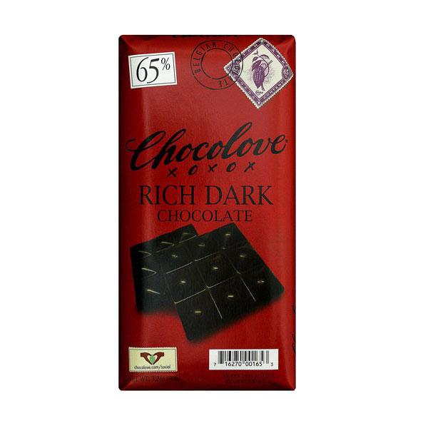 CHOCOLOVE DARK CHOCOLTAE BAR RICH 3.2oz