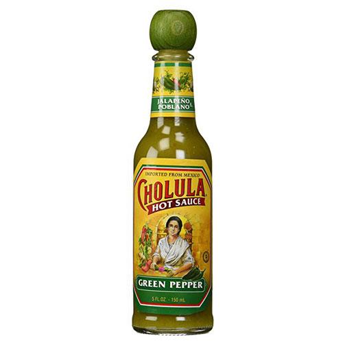 CHOLULA HOT SAUCE GREEN PEPPER 5oz