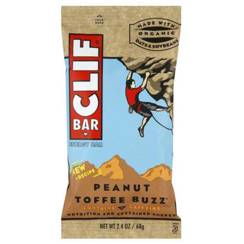 CLIF BAR  PEANUT TOFFEE BUZZ 2.4oz