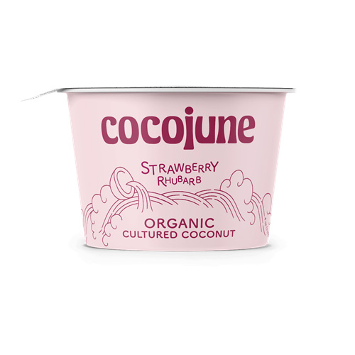 COCOJUNE ORGANIC CULTURED COCONUT STRAWBERRY RHUBARB 4oz