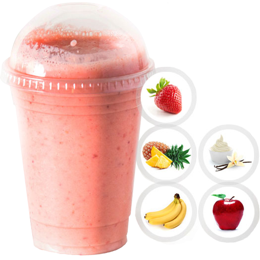 COLD BREEZE (STRAWBERRY, PINEAPPLE, VANILLA YOGURT, APPLE JUICE) SELECT 16oz OR 20oz