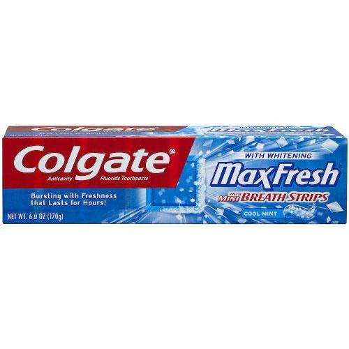 COLGATE TOOTHPASTE MAXFRESH  6oz