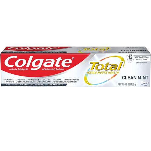 COLGATE TOOTHPASTE TOTAL CLEAN MINT  4.8oz