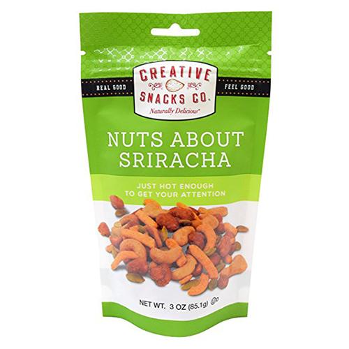 CREATIVE SNACKS NUTS ABOUT SRIRACHA 3oz