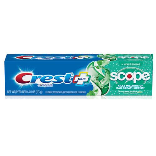 CREST TOOTHPASTE COMPLETE SCOPE WHITENENING 5.8oz
