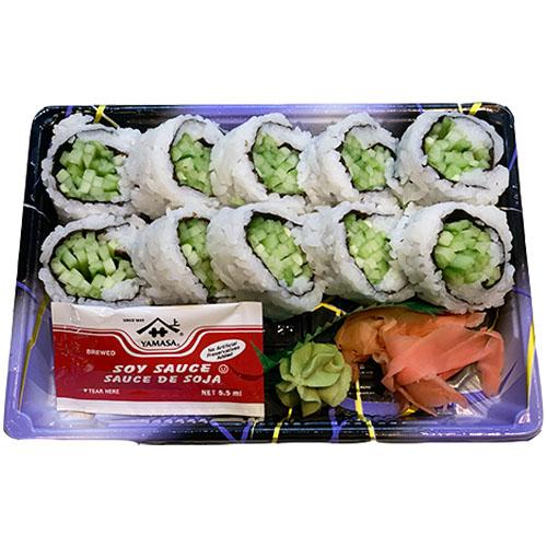 Cucumber Roll (Rice, Cucumber, Seaweed, Vinegar, Sugar, Salt)