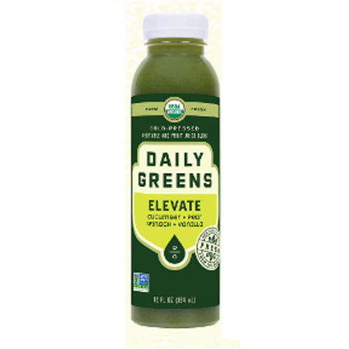 DAILY GREENS ORGANIC COLD PRESSED JUICE ELEVATE 12oz