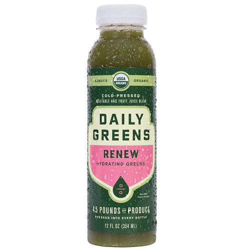 DAILY GREENS ORGANIC COLD PRESSED JUICE RENEW 12oz