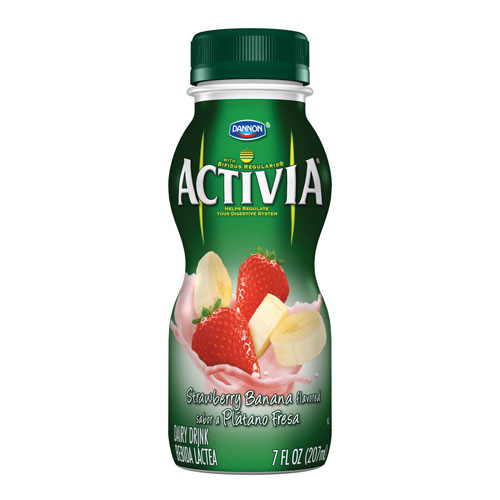 DANNON ACTIVIA PROBIOTIC DRINK STRAWBERRY & BANANA 7oz