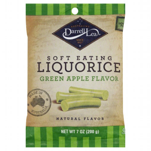DARRELL LEA LIQUORICE SOFT EATING GREEN APPLE  FLAVOR 7oz