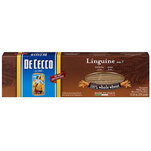 DE CECCO LINGUINE WHOLE WHEAT #7 13.25oz