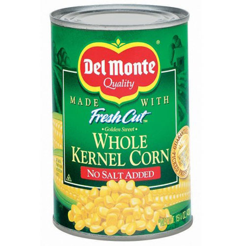 DEL MONTE WHOLE KERNEL CORN NO SALT 15.25oz