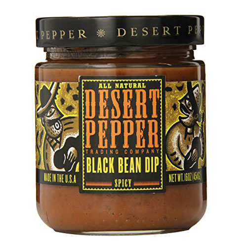 DESERT PEPPER BLACK BEAN DIP SPICY  16oz.