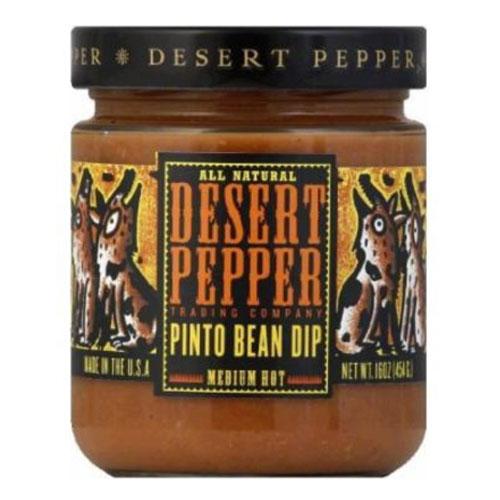 DESERT PEPPER PINTO BEAN DIP MED HOT 16oz.