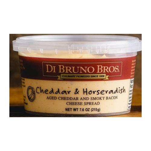 DI BRUNO BROS CHEESE SPREAD CHEDDAR&HORSERADISH 7.6oz.