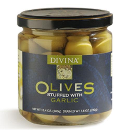DIVINA GARLIC STUFFED OLIVES 13.4oz
