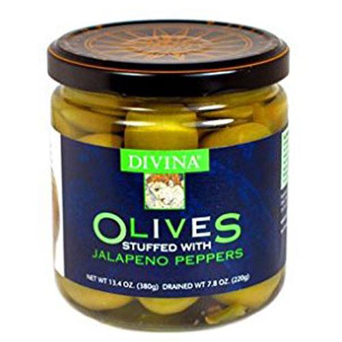 DIVINA OLIVES JALAPENO STUFFED OLIVES 13.4oz