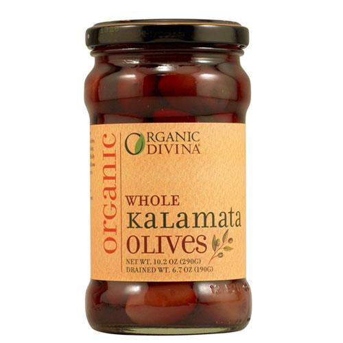 DIVINA OLIVES ORG WHOLE KALAMATA 10.2oz