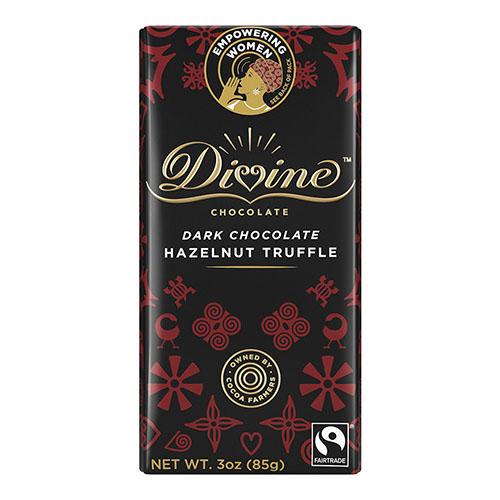 DIVINE DARK CHOCOLATE HAZELNUT TRUFFLE 3oz