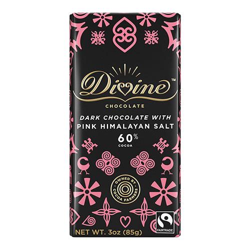 DIVINE DARK CHOCOLATE WITH PINK HIMALAYAN SALT 3oz