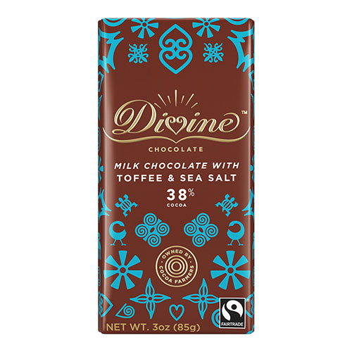 DIVINE MILK CHOCOLATE TOFFEE&SEA SALT 3oz