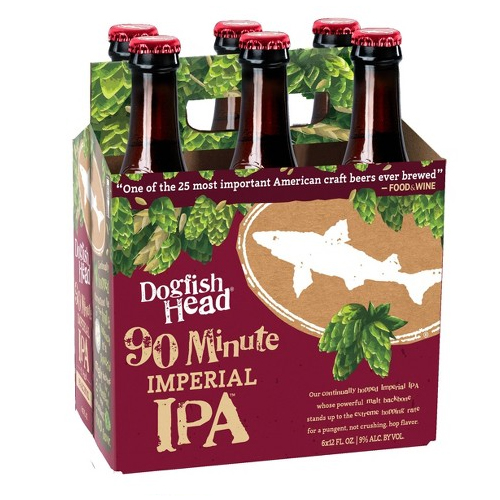 DOGFISH HEAD 90 MINUTE IMPERIAL IPA 12oz 6pk.