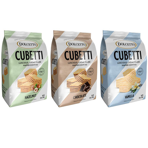 DOLCETTO CUBETTI CREME FILLED WAFER COOKIES 8.8oz
