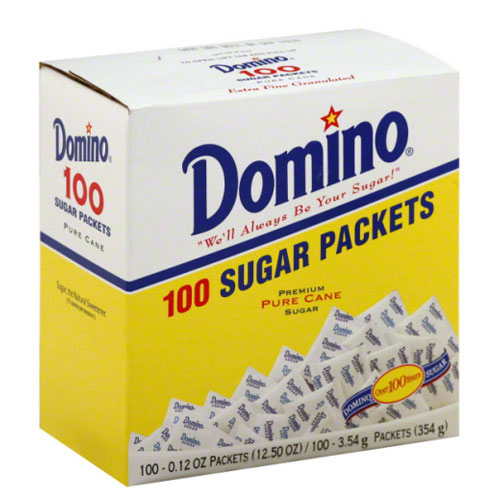 DOMINO SUGAR PACKETS 100pk 12.5oz