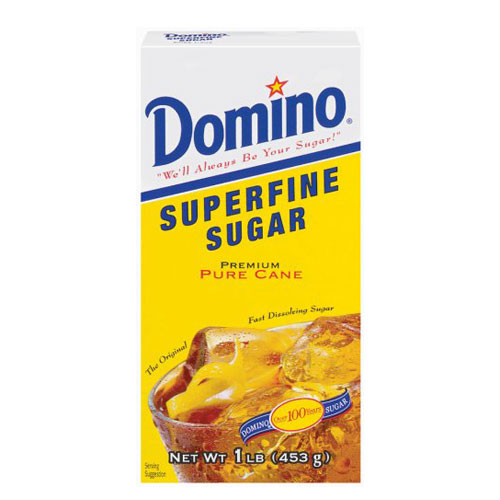 DOMINO SUPERFINE SUGAR 16oz