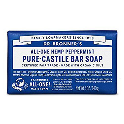 DR BRONNERS BAR SOAP PEPPERMINT 5oz