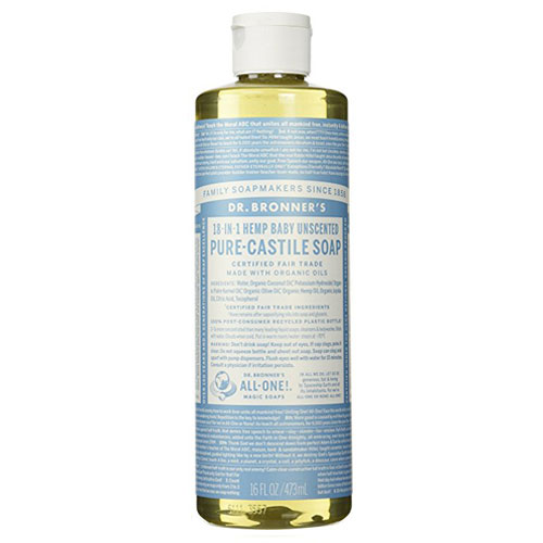 DR BRONNERS  MAGIC SOAP BABY UNSCENTED 16oz