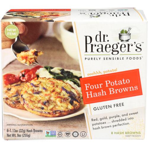 DR. PRAEGER'S GLUTEN FREE FOUR POTATO HASH BROWNS 9oz