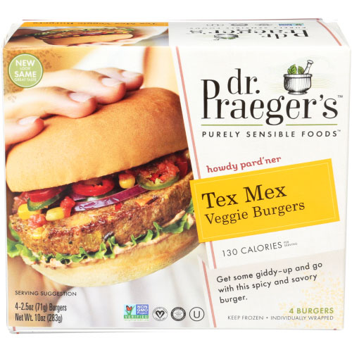 DR. PRAEGERS TEX MEX VEGGIE BURGERS 10oz