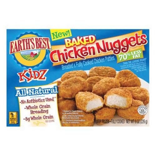 EARTHS BEST GLUTEN FREE CHICKEN NUGGETS 8oz