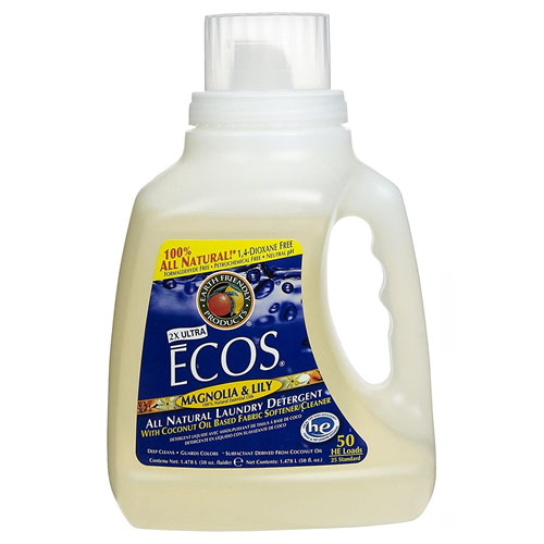 ECOS LAUNDRY DETERGENT WITH FABRIC SOFTENER MAGNOLIA & LILY 50oz.
