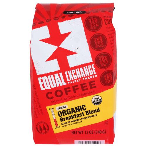 EQUAL EXCHANGE ORGANIC GROUND COFFEE BREAKFAST BLEND MEDIUM 12oz