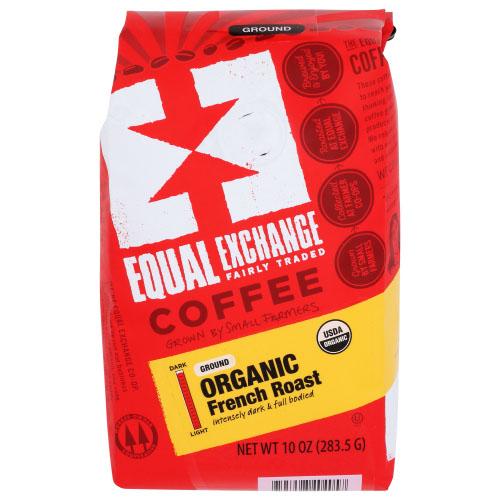EQUAL EXCHANGE ORGANIC GROUND COFFEE FRENCH ROAST DARK 12oz
