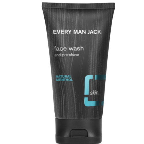EVERY MAN JACK FACE WASH AND PRE SHAVE NATURAL MENTHOL 5oz