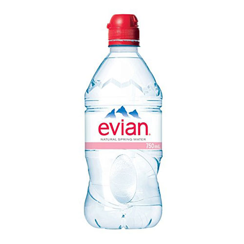 EVIAN NATURAL SPRING WATER 750ml