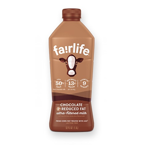 FAIRLIFE LACTOSE FREE ULTRA-FILTERED 2% REDUCED CHOCOLATE MILK 52oz