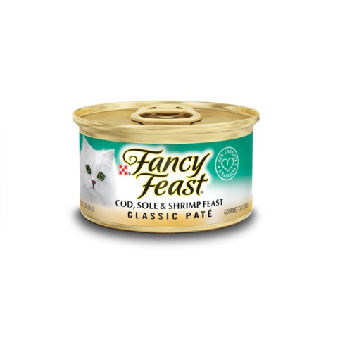 FANCY  FEAST CLASSIC PATE COD, SOLE & SHRIMP FEAST CAT FOOD 3oz