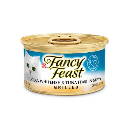 FANCY  FEAST GRILLED OCEAN WHITEFISH & TUNA FEAST IN GRAVY CAT FOOD 3oz