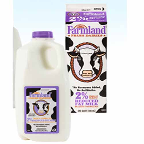 FARMLAND 2% REDUCED FAT MILK 1/2gal